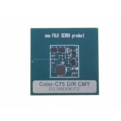 013R00672 13R672  Чип цветного ксеромодуля драм-картриджа Xerox Color C75,J75  J75CNC Совместимая продукция