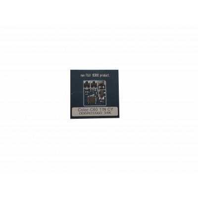 006R01660  Чип голубого картриджа Xerox Color C60,C70  C60TRCC Совместимая продукция
