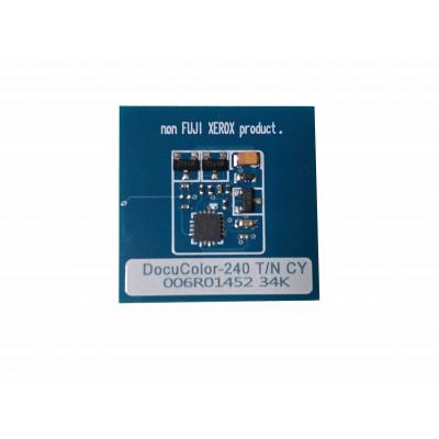 006R01226 6R1226 006R01452 Чип голубого тонер-картриджа Xerox Docucolor 240, 242, 250, 252, 260
