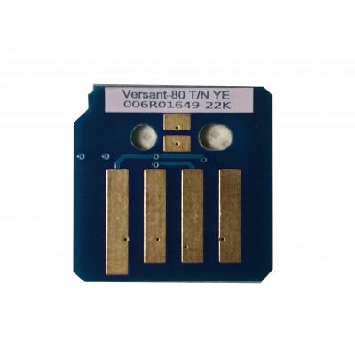 006R01649  Чип жёлтого картриджа Xerox Versant 80,180 Press  V80TRCY Совместимая продукция