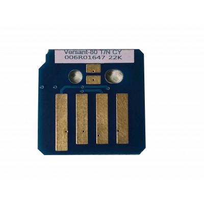 006R01647  Чип голубого картриджа Xerox Versant 80,180 Press  V80TRCC Совместимая продукция